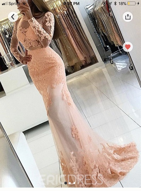 Applique Long Prom Dresses Mermaid Evening Dress Long Sleeve Formal Dress,HH102