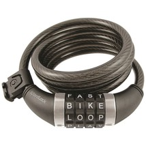 Wordlock Combination Resettable Cable Lock (black) HBCCL411BK - $20.79