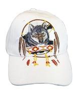 Native Pride Wolf Men's Adjustable Baseball Cap (S1-White) - $11.95