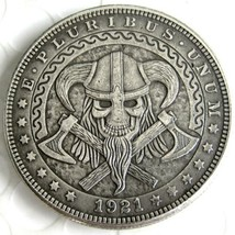 1921 The Evil Dead From Hell Hobo Nickel Morgan Dollar Coin For US Collectors - $5.49