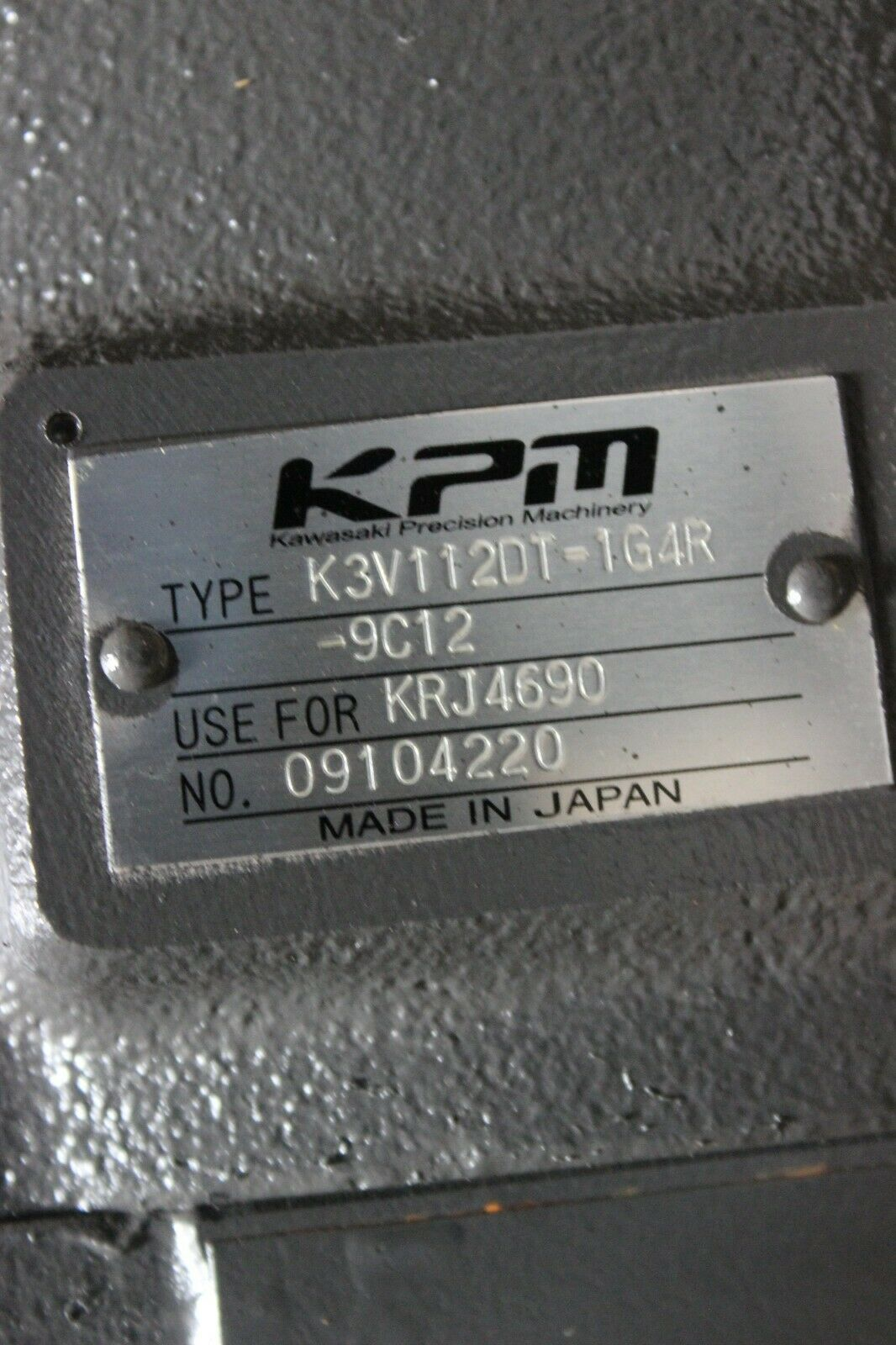 Primary image for Case 9030B Hydraulic Main Pump 162219A1 Kawasaki K3V112DT-1G4R-9C12 New