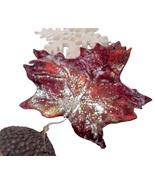 Christopher Radko Leaf/Acorn Snowflake Ornament 98-736-0 - $17.99