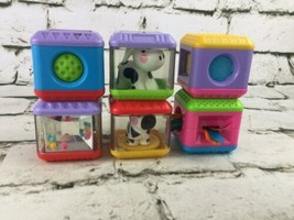 Fisher Price Peek A Blocks Lot Of 6 Noise Makers Animals Fidget - $11.88