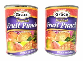 Grace Tropical Fruit Punch Drink 540mL, 2 Pack - $25.00