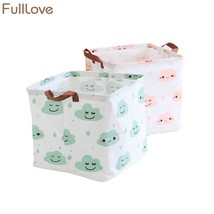 FULLLOVE® 33*33*31cm Nordic Storage Baskets for Toys Cartoon Cloud Printed - $18.54