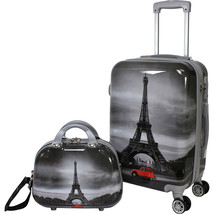 2-Piece Hardside Carry On Spinner Luggage Set Suitcase Tote Bag Travel T... - $146.97