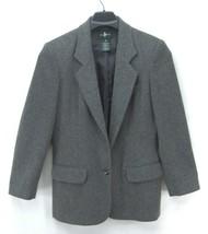 HUNT CLUB Women's Blazer 100% Wool/Lambswool Jacket Gray Coat~ Fully Lin... - $19.99