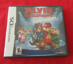 Alvin and the Chipmunks The Squeakquel Nintendo DS Case, Cover Art & Manual - $5.93