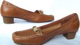 Liz Claiborne Flex Heels Pump Shoes 6M Leather Light Brown Camel NEW BOX - $33.84