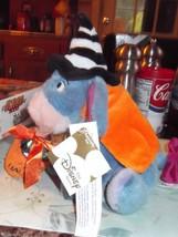 Disney Eeyore Halloween Witch Costume Plush Beanie With Trick Or Treat Bag - $18.69
