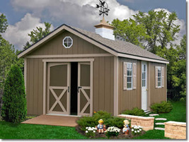 Best Barns North Dakota 12x12 Wood Storage Shed Kit - ALL Pre-Cut - $3,349.00