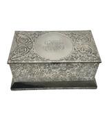 Antique Cross Art Nouveau Sterling Silver on  Bronze Box Humidor Casket ... - $210.38