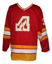 Custom Name # Atlanta Flames Retro Hockey Jersey New Red Belanger #31 Any Size  image 3