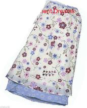 Girls Teen Plus 14.5 Skirt NEW MKA 14 1/2 Flower blue cream pink - £6.88 GBP
