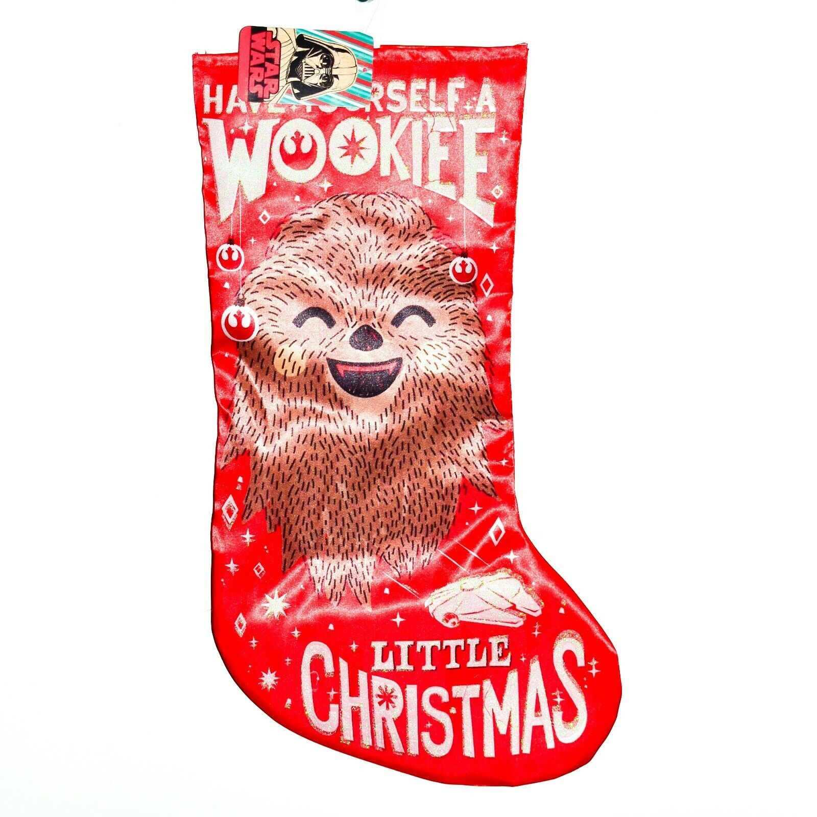 "Kurt S Adler Star Wars Have Wookiee Little Christmas 18"" Printed Satin Stocking"