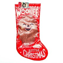 "Kurt S Adler Star Wars Have Wookiee Little Christmas 18"" Printed Satin Stocking image 1"