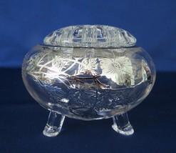 Viking Crystal, Flowerlite with Silver City, Flanders, Overlay, #1007, c... - $18.00