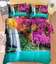 3D Lake Falls 19 Bed Pillowcases Quilt Duvet Cover Set Single Queen King Size AU - $64.32+