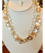 Keshi Pearl 4-in-1 Convertible Necklace Freshwater Multicolor Sterling s... - $70.34