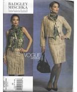 VOGUE Designer Pattern #V1127-BADGLEY MISCHKA-Misses Jacket-Skirt-Blouse... - $12.16