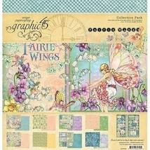 Fairie Wings 12X12 Scrapbook Collection. Graphic 45