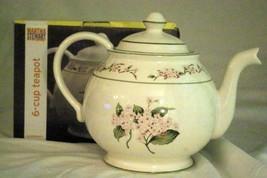 Martha Stewert 2003 Hydrangea 6 Cup Tea Pot NIB - $29.79