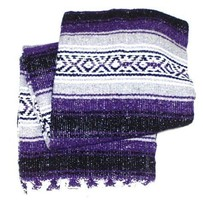 #11Yoga Purple Traditional Mexican Blanket Striped Premium Mexico Navajo... - $19.85 CAD