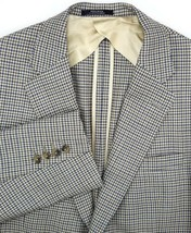 Austin Reed NEW Mens Sport Coat Size 40 Long Brown & Blue Check 100% Wool - $46.48