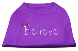 Believe Rhinestone Shirts Purple L (14) - $12.98