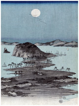 1457 Moonlight Asian wall Art Decoration POSTER.Graphics to decorate hom... - $10.89+
