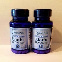 2x50 Puritan Pride Ultra Mega Biotin Vitamin Supplement 10000 mcg 100 So... - $14.85