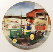Danbury Mint Pitching In Plate Donald Zolan Collection Little Farmhands - $44.99