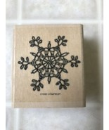 Stampin Up Intricate Lace Snowflake Rubber Stamps Retired 1999 - $9.49