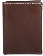 Steve Madden Premium Leather Trifold Credit Card ID Brown Wallet N80002-01 image 1