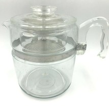 Vintage Pyrex Flameware Coffee Percolator 7759B 9 Cup Clear Glass Comple... - $79.95