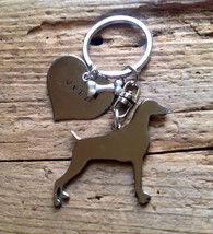 Weimeraner Keychain Dog Lover Hunting dog - $18.00