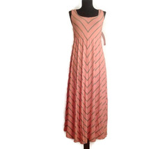 Liz Lange XS Maternity Chevron Dress Pink grey mitered stripe - $22.00