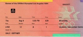 1984 USA Olympic Wrestling Ticket Stub Anaheim Convention Center August 9  - $19.79