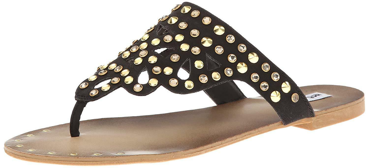 Not Rated Women's Black Studded Make It Rain Sandals