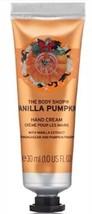 The Body Shop VANILLA PUMPKIN 1.0 Fluid Ounces Hand Cream - $7.72