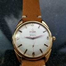OMEGA Men's Gold-Capped 2981-4 Geneve Automatic, c.1950s Swiss Vintage LV650TAN - $1,950.20