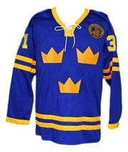 Custom Name # Mats Sundin Tre Kronor Sweden Hockey Jersey New Blue Any Size image 3