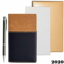 2020 Weekly Pocket Calendar Organizer | Business Polished Chrome Trim Pe... - $14.90