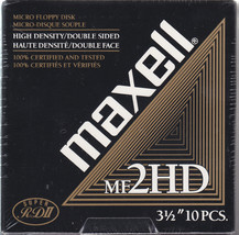 Maxell Diskettes MF2HD PC Formatted 1.44 MB 3.5 PC Floppy Disks 10 Pack HD - $14.85