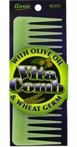 Vita Comb With Olive Oil and Wheat Germ Moisterizing Conditions Hair Det... - $6.92