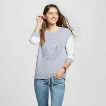 """Zoe + Liv Gray """"Way Out West"""" Soft Drawstring Pullover Sweatshirt Size S... - $14.85"""