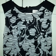Women's Ann Taylor Loft Factory Shift Dress Size 2 Black/White image 2