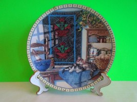 Collectors plate Edwin Knowles Fine China 1990 Lazy Morning Hannah Holli... - $12.99