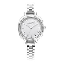 REBIRTH Casual Style Women Wrist Watch Rectangle Dial Design Full Steel ... - £13.02 GBP