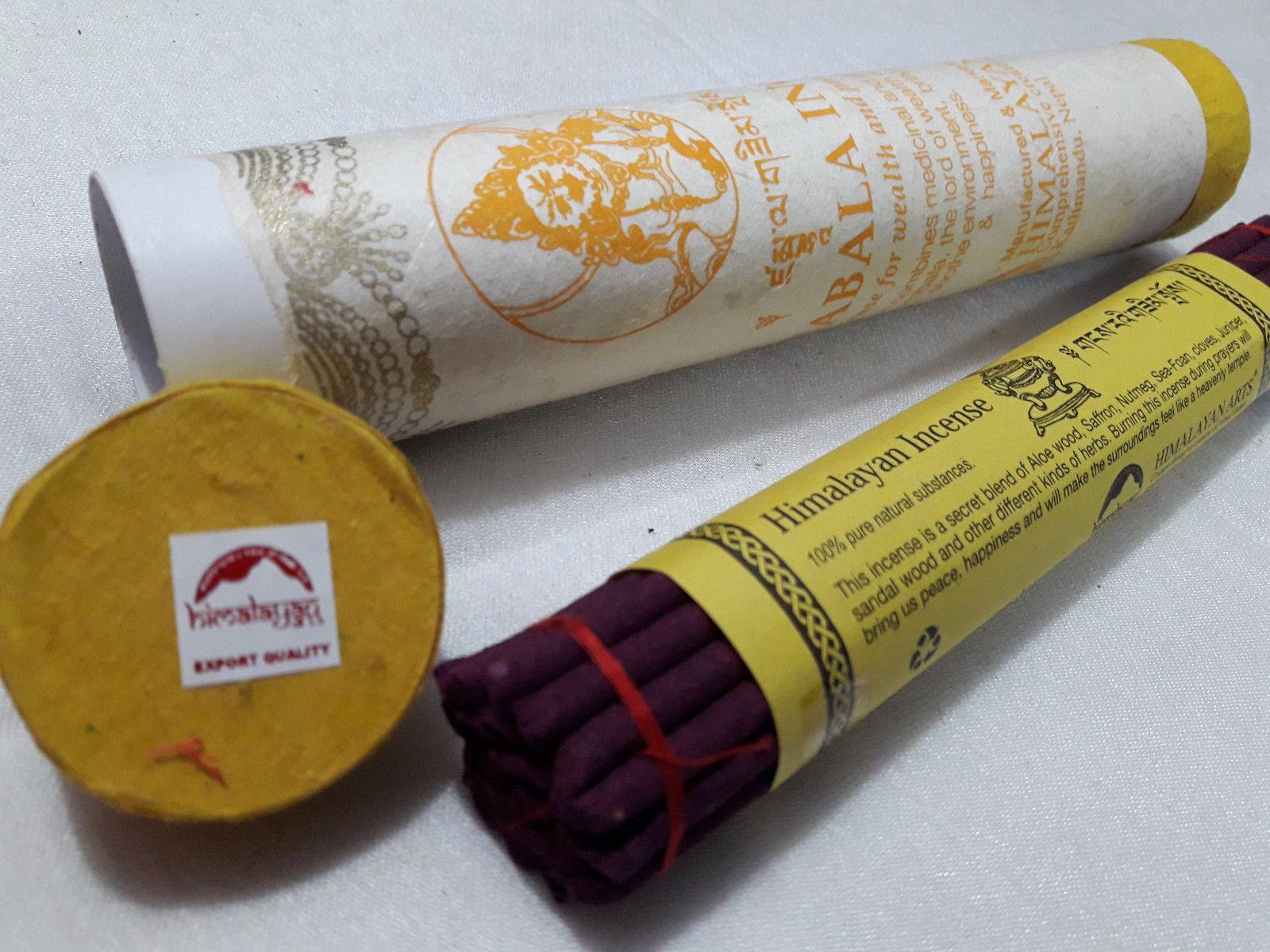 Zambala Himalayan Diety Large Tibetan Incense Sticks